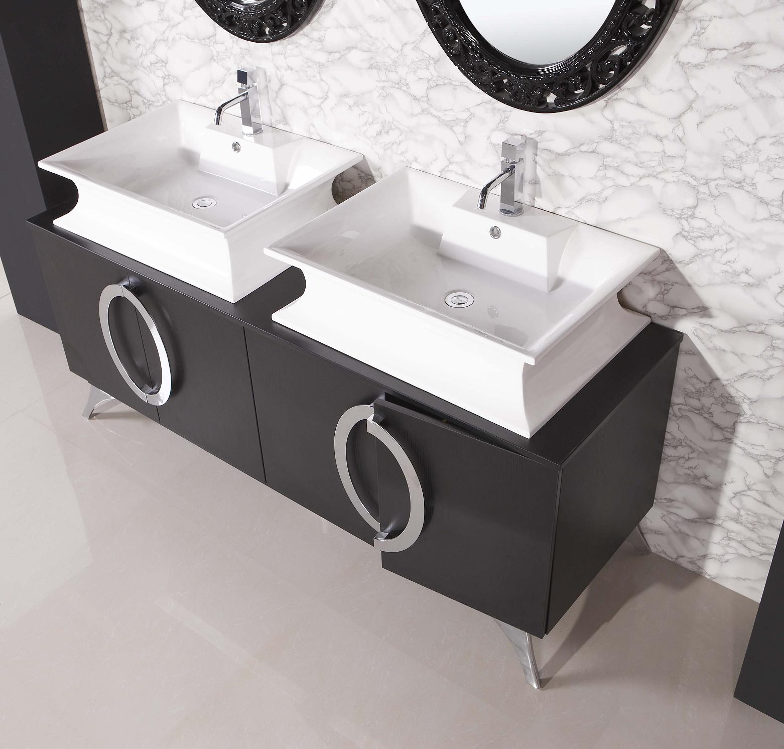 Modern bathroom vanity paris for Bathroom wash basin with cabinet