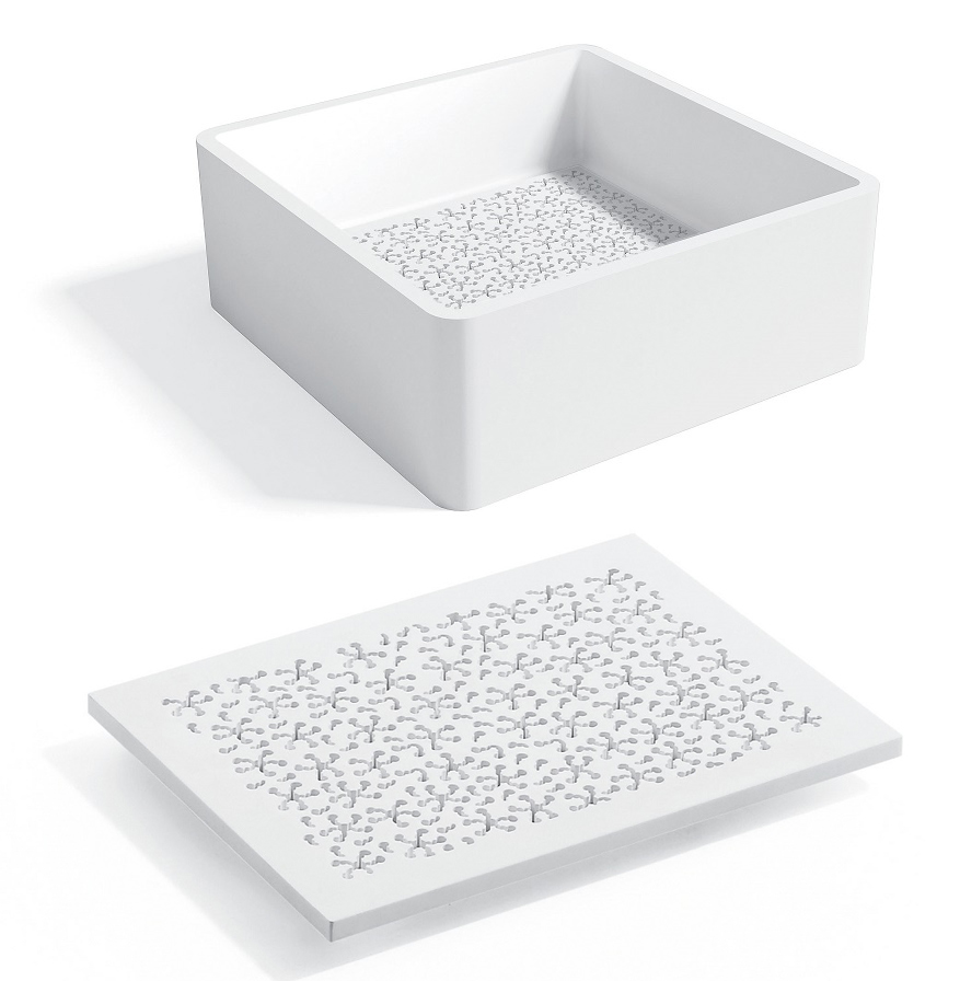 Solid Surface Bathroom Sink: Bathroom Vessel Sink