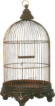 Hanging Decorative Bird Cage Antique