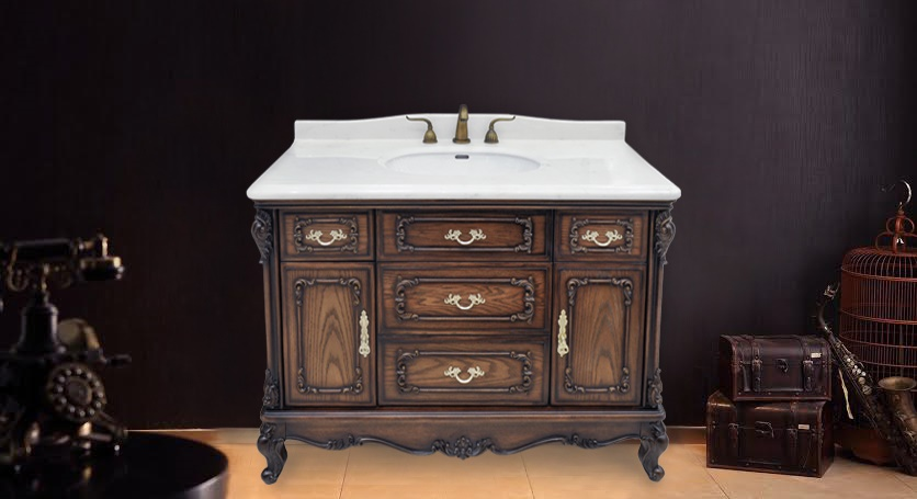 - Marseille Antique Bathroom Vanity Set