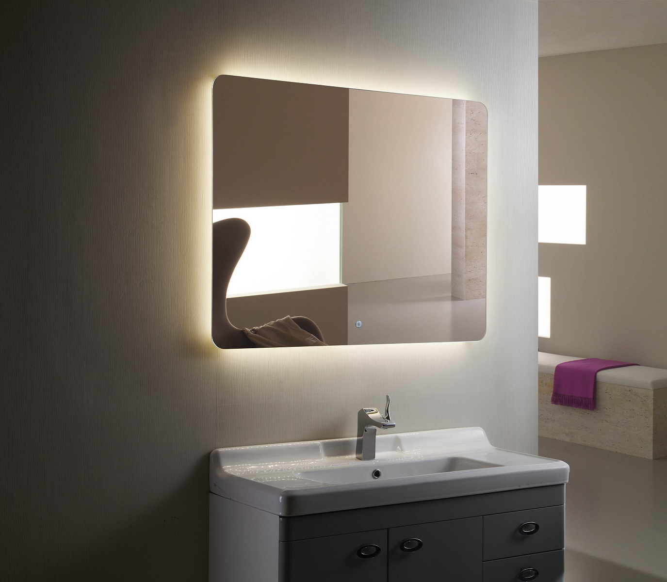 Montana Iii Backlit Mirror Led Bathroom