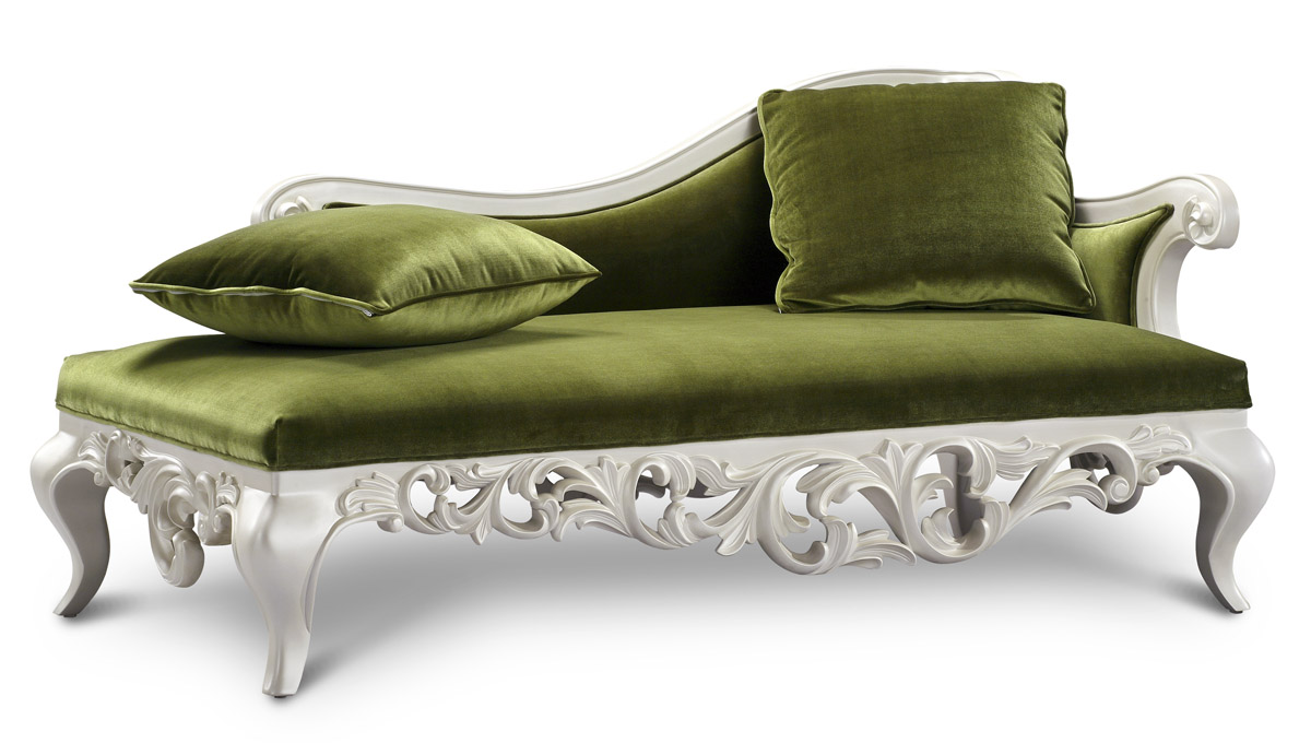 Claudette chaise lounge sofa green for Buy a chaise lounge