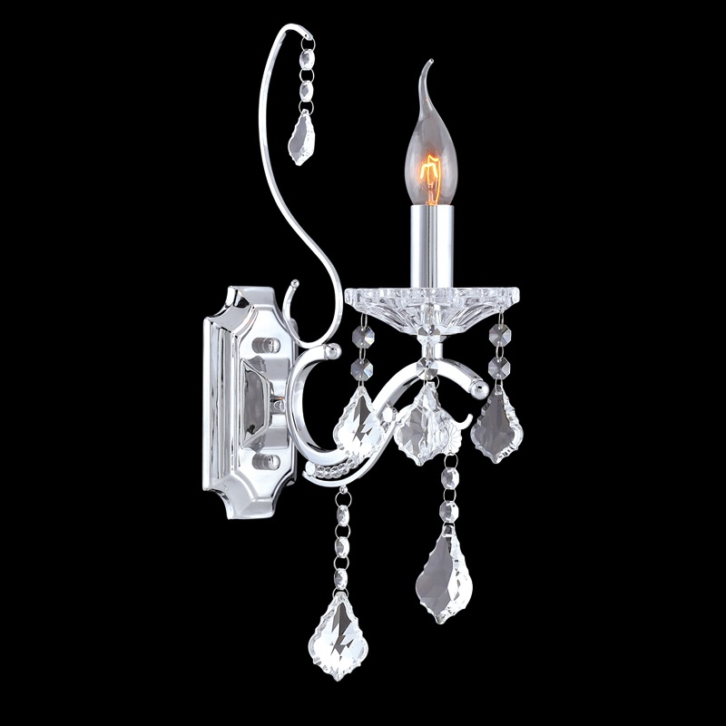 Wall Sconces Crystal : Wall Lamp - Crystal Wall Sconce - Wall Light - Sandra