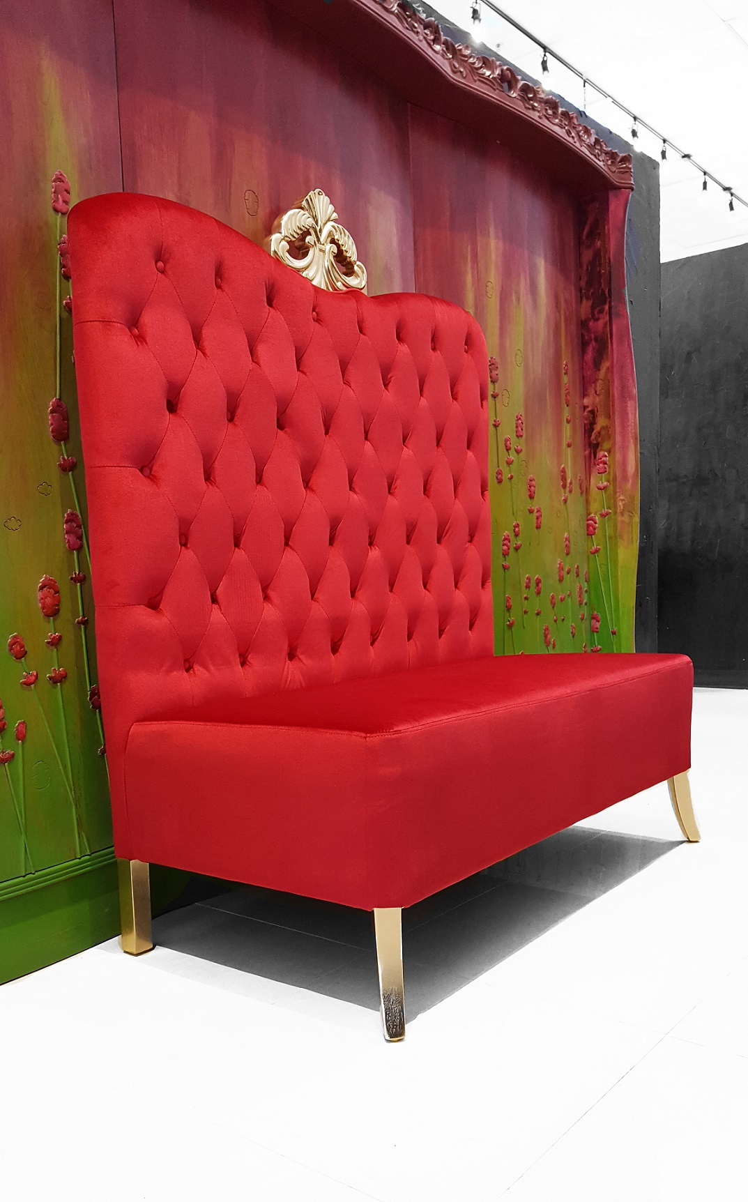 Click To See Larger Image Adonis High Back Chair Red