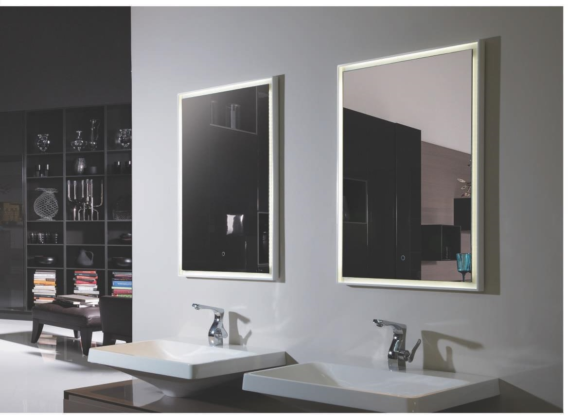 Fiori II Lighted Vanity Mirror LED Bathroom Mirror Reversible 27.6quot; x