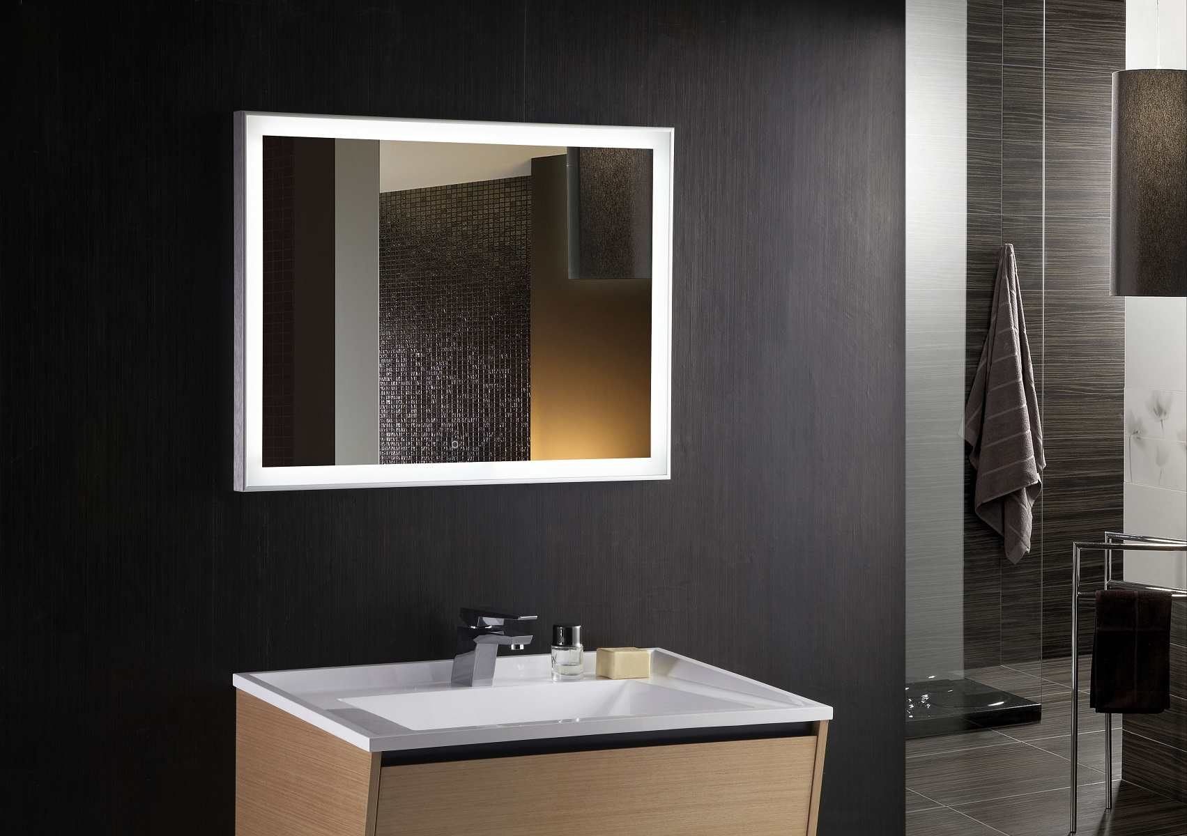 Vanity Mirrors For Bathroom Cuzio LED Bathroom Mirror