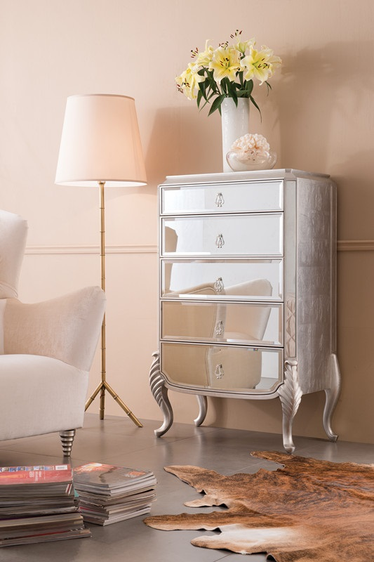 Mirrored Chest Of Drawers Florentine