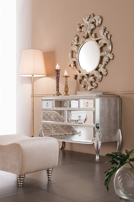 Mirrored dresser bedroom dresser florentine for Decorative bedroom mirrors