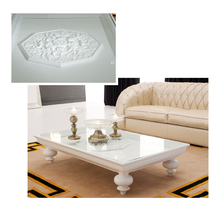 Designer Modern White Coffee Table