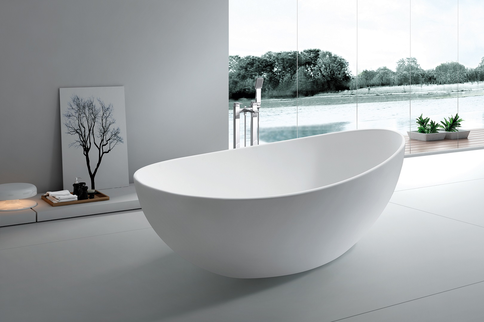 Roma Freestanding Soaking Tub 65\