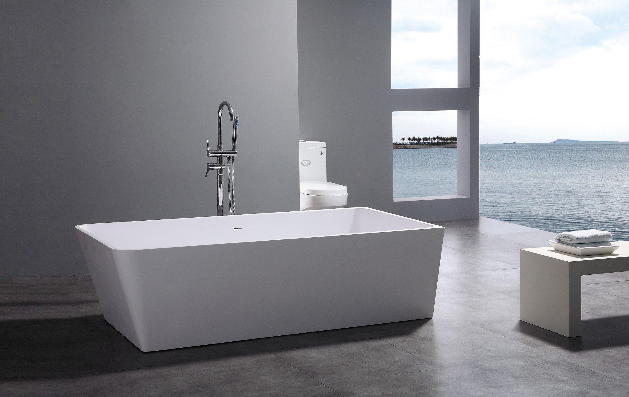 Leona luxury modern bathtub 71 for Modern bathroom