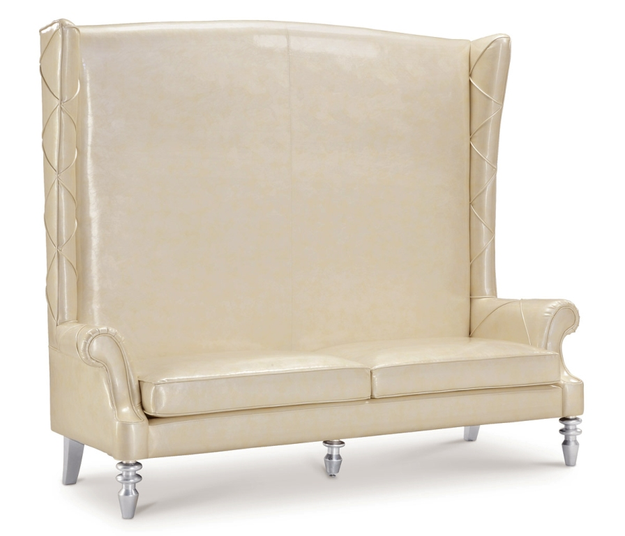 loveseat high back love seat chair high back chaise snow queen white vinyl ebay