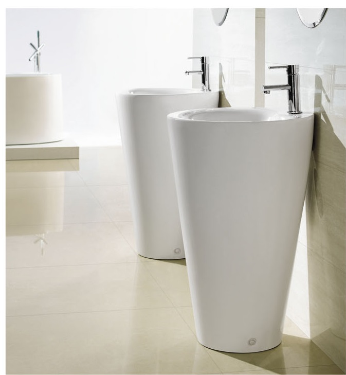 Modern Bathroom Pedestal Sink   Ferrara