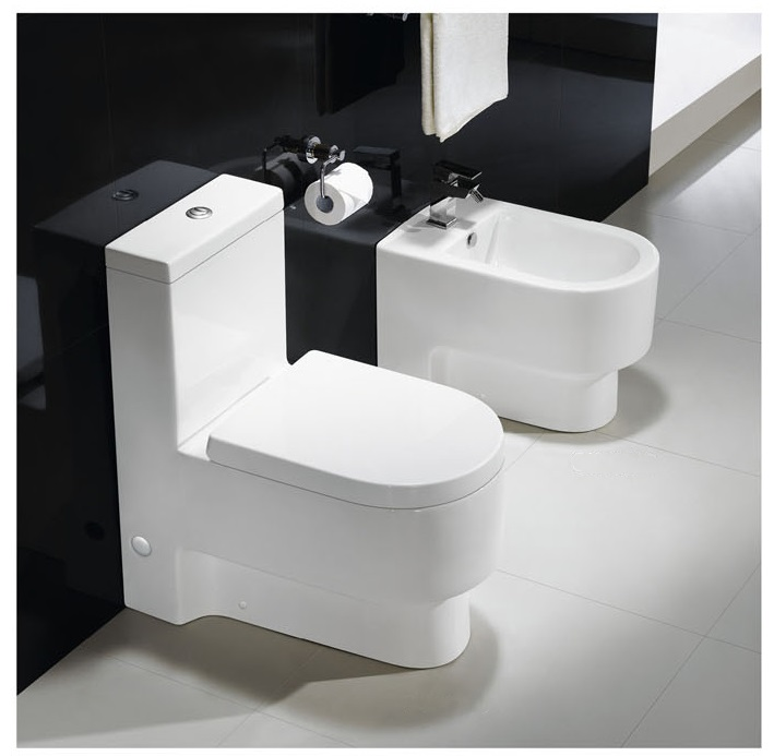 Modern toilet bathroom toilet one piece toilet abaddia for Photo toilette moderne