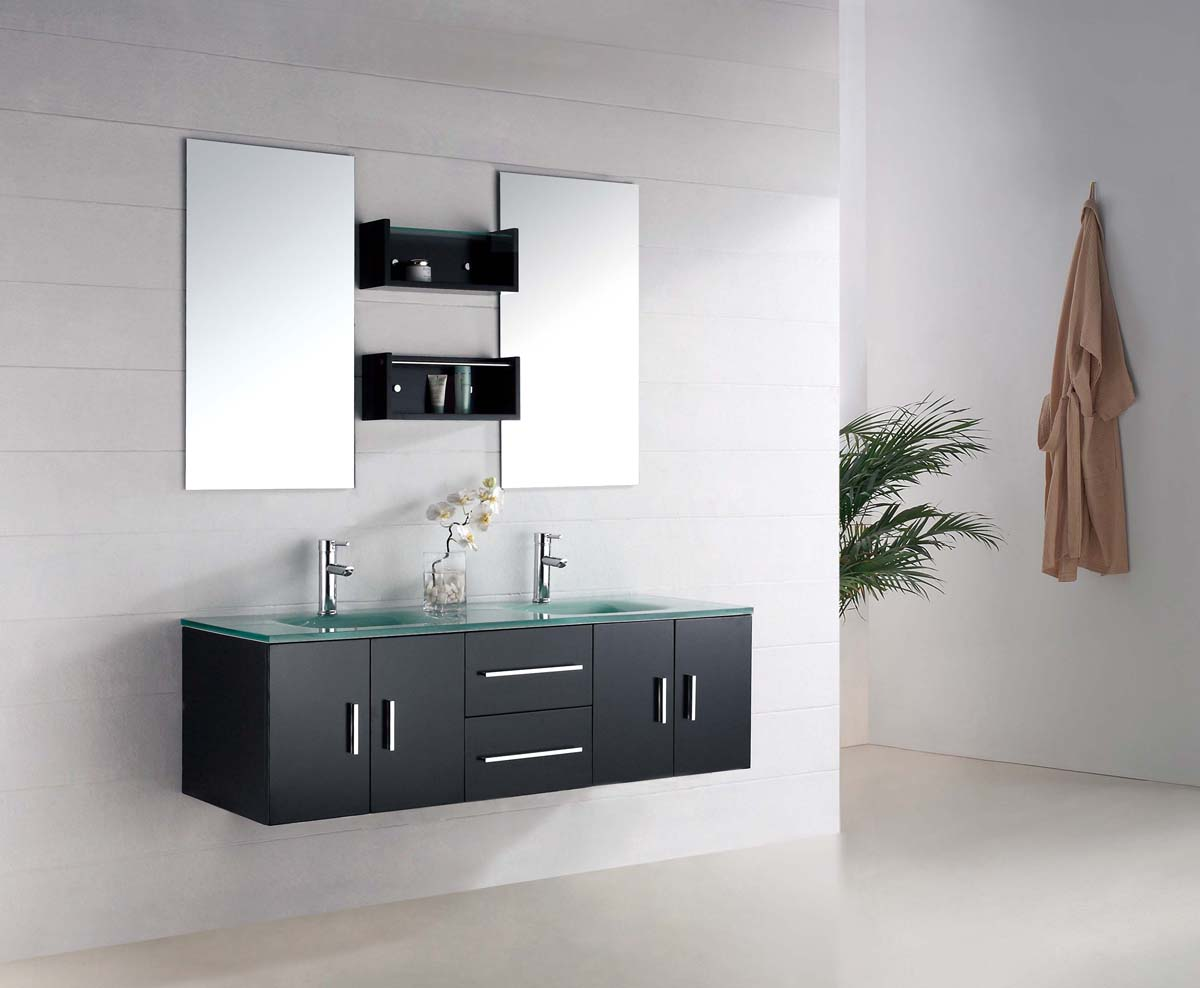Modern bathroom vanity set macari for Bathroom cabinets modern