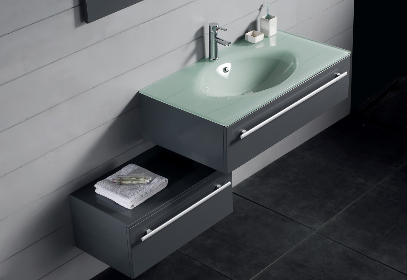 Modern bathroom vanity triton for Bathroom sink designs
