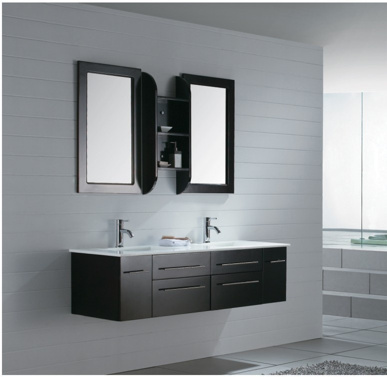Modern bathroom vanity milano iv for Contemporary bathroom sinks and vanities