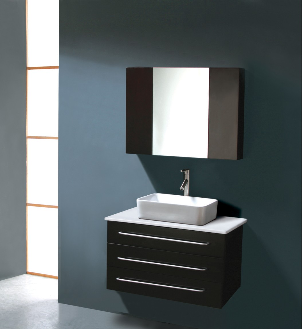 Modern bathroom vanity dimitrie for Bathroom cabinets modern
