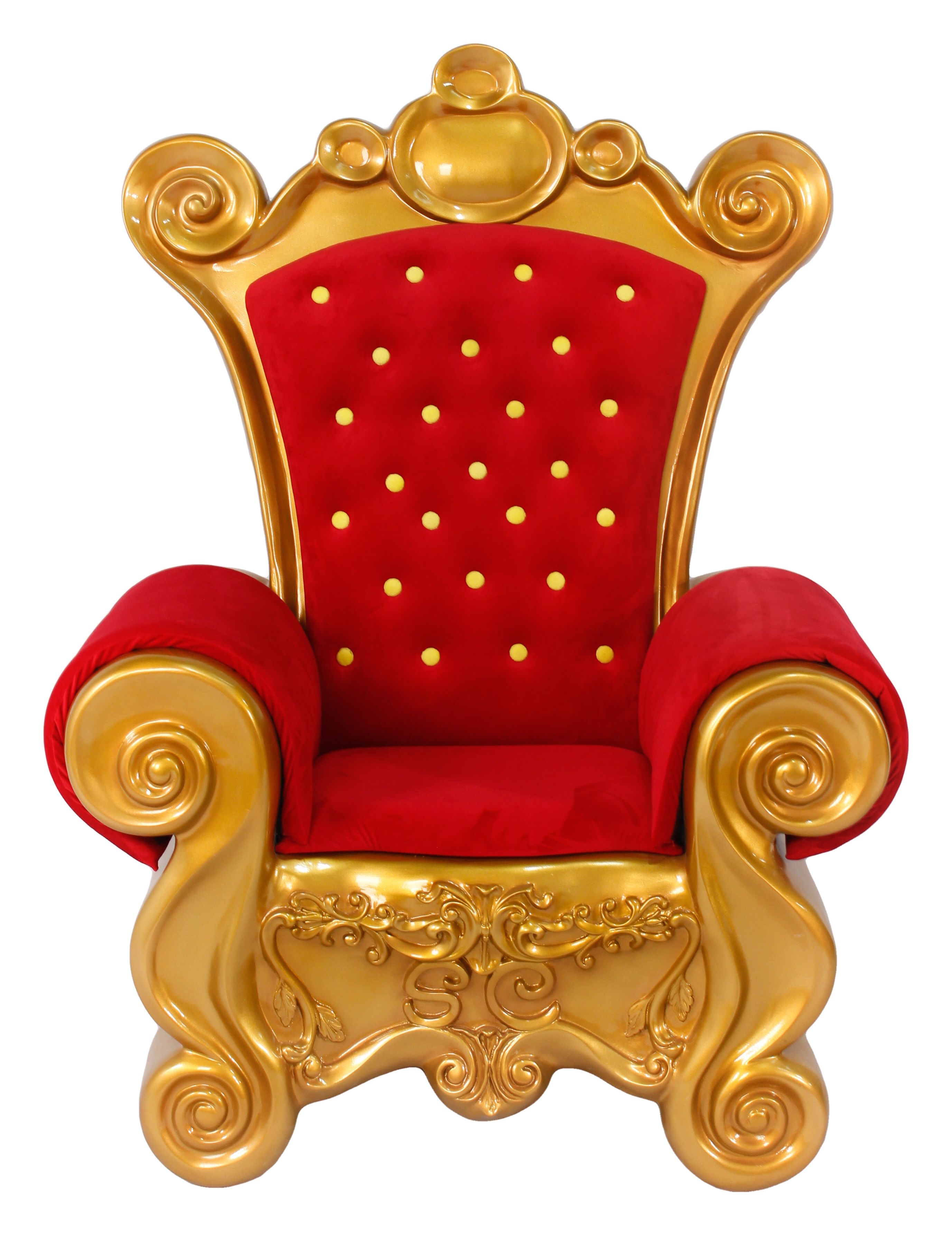 sc 1 st  The Interior Gallery & Large Santa Throne Chair in Red Velvet and Gold Frame