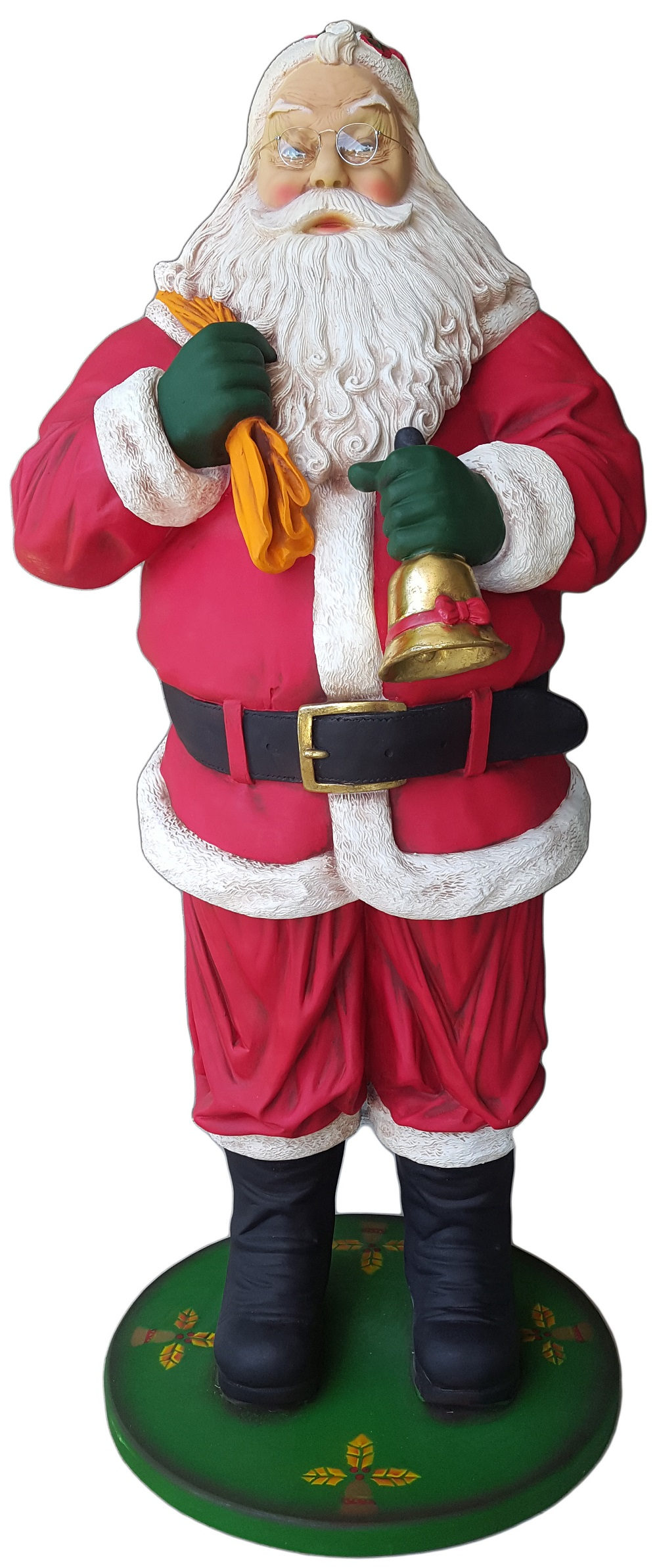 Best santa claus statues sale with bell