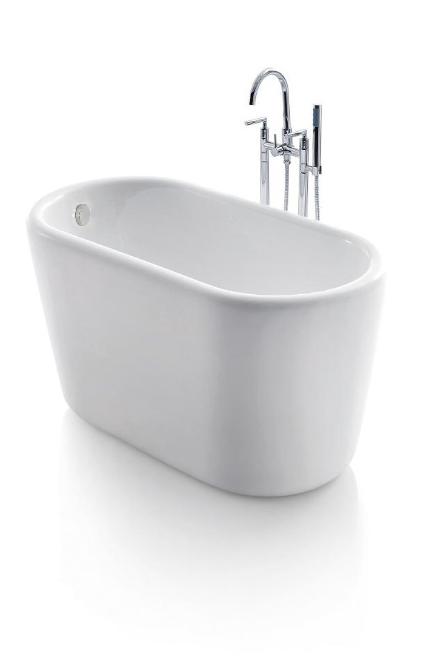 Giano acrylic modern freestanding soaking bathtub 51 for Acrylic soaker tub