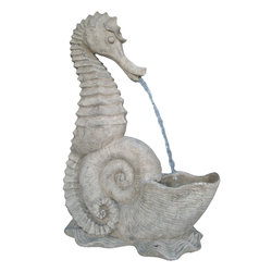 Sea-Horse Water Wall Fountain