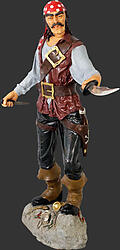 Pirate Cristobal 6 ft with Sword