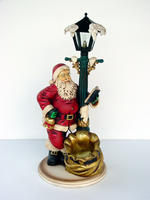 Santa Claus with Lamp Post Christmas Decor 3FT