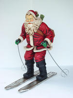 Santa Claus Skiing Statue Christmas Decor Life Size 5FT