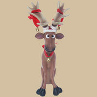 Funny Reindeer Sitting 2FT