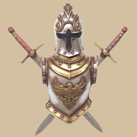 German Armor with Sword Wall Decor Life Size