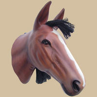 Horse Head Wall Mount Statue
