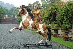 Indian Warrior Chief Life Size Statue