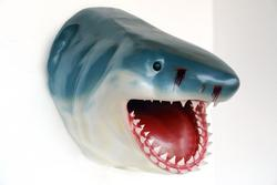 Large Shark Head Wall Mount Life Size Statue
