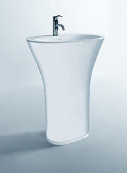 Bonelli - Modern Bathroom Pedestal Sink Cast Stone 25.2
