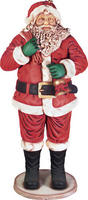 Santa Claus with Bell Statue Christmas Decor Life Size 7.5FT