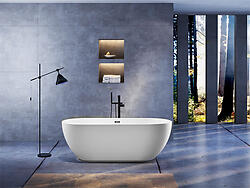 Taviano Acrylic Modern Soaking Bathtub 70.5