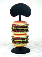 Advertisement Hamburger Food Sign Statue