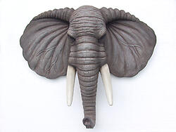 Elephant Head Wall Mount Statue