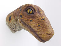 Baby T-Rex Head Wall Mount Statue