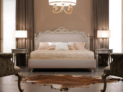 Luxury Bed - Baroque Bed - Ambassador - Shiny Taupe