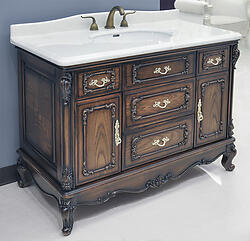 click to see larger image - Antique Bathroom Vanity