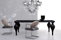 Black Dining Table - Devereaux
