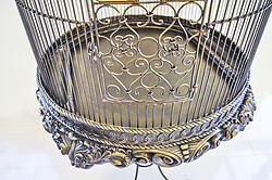 Decorative Bird Cage with Stand Bronze Imperial