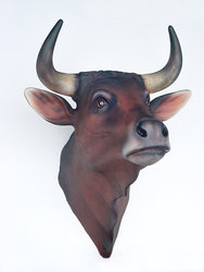 Bull Head Wall Mount Statue