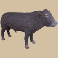 Black Angus Bull Life Size Statue 9FT