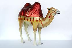 Camel Statue with Red Rug Life Size