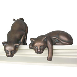 Curious Cats Statue Large - Bronze Finish
