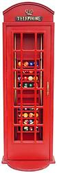 London Phone Booth Billiard Ball and Rack Cabinet