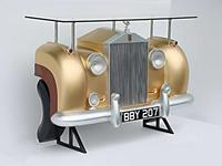 Rolls Royce Car Bar Gold
